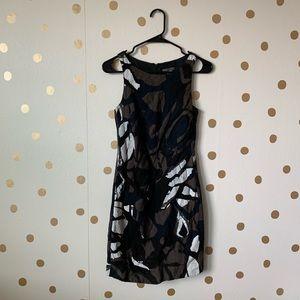 Vince Brushstroke Sleeveless Sheath Dress